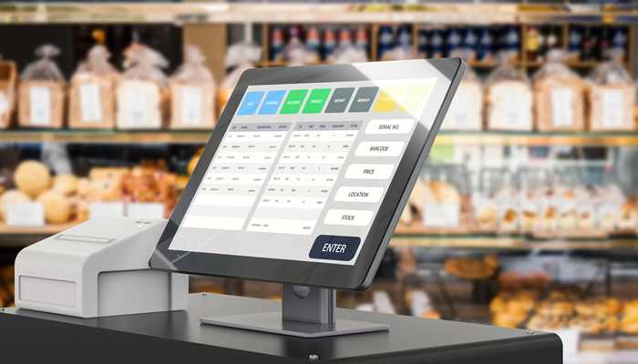 Pos Software placed on the top of the table for Bakery Management